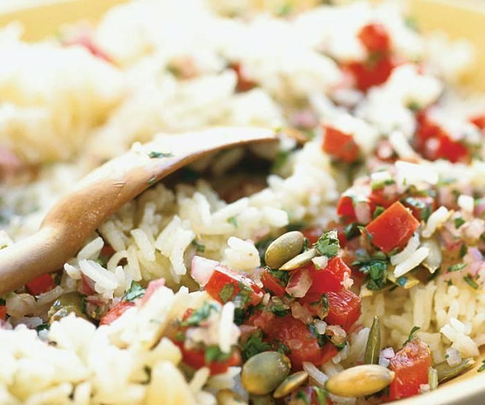Sałatka z ryżem cytrynowym