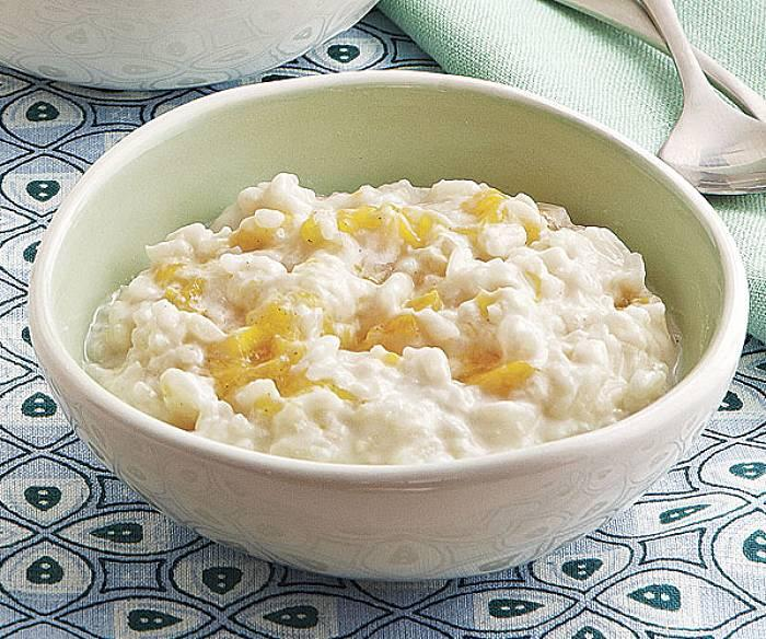 Kokosowy pudding ryżowy z mango