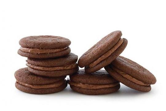 Ciasteczka z nadzieniem kawowo-waniliowym