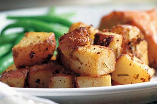 Pieczone ziemniaki z musztardą i rozmarynem